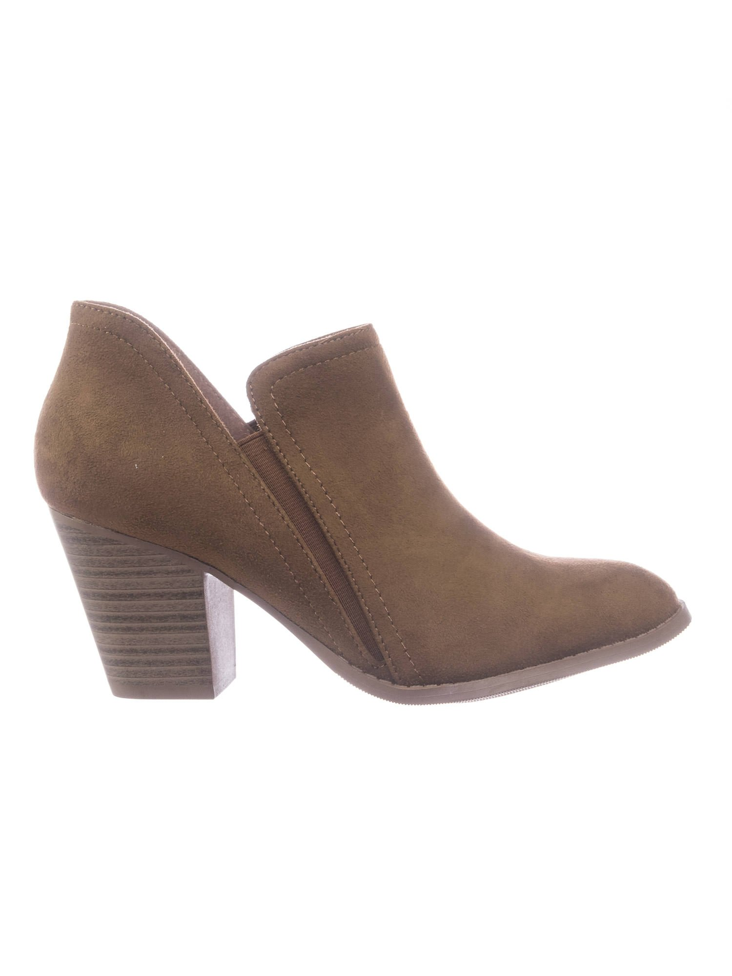 City Classified Women Chelsea High Stack Heel Ankle Bootie w Elastic Side Slit by City Classified (Image #2)
