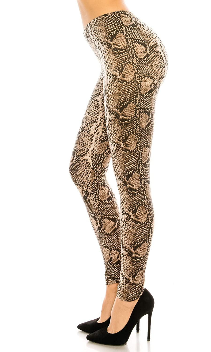 5626a8c340cfc Amazon.com: echomerx 5-Pack Animal Print Leggings for Women Checkered Snake  Leopard Design Pattern, Plus Size 5-Pack: Clothing