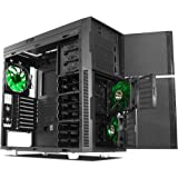 Nanoxia Deep Silence 1 Rev. B Mid Tower Computer Case with 6 Fan Controllers, Fits ATX Motherboard and 240mm Radiators, 24.9 Pounds, Black (NXDS1B)