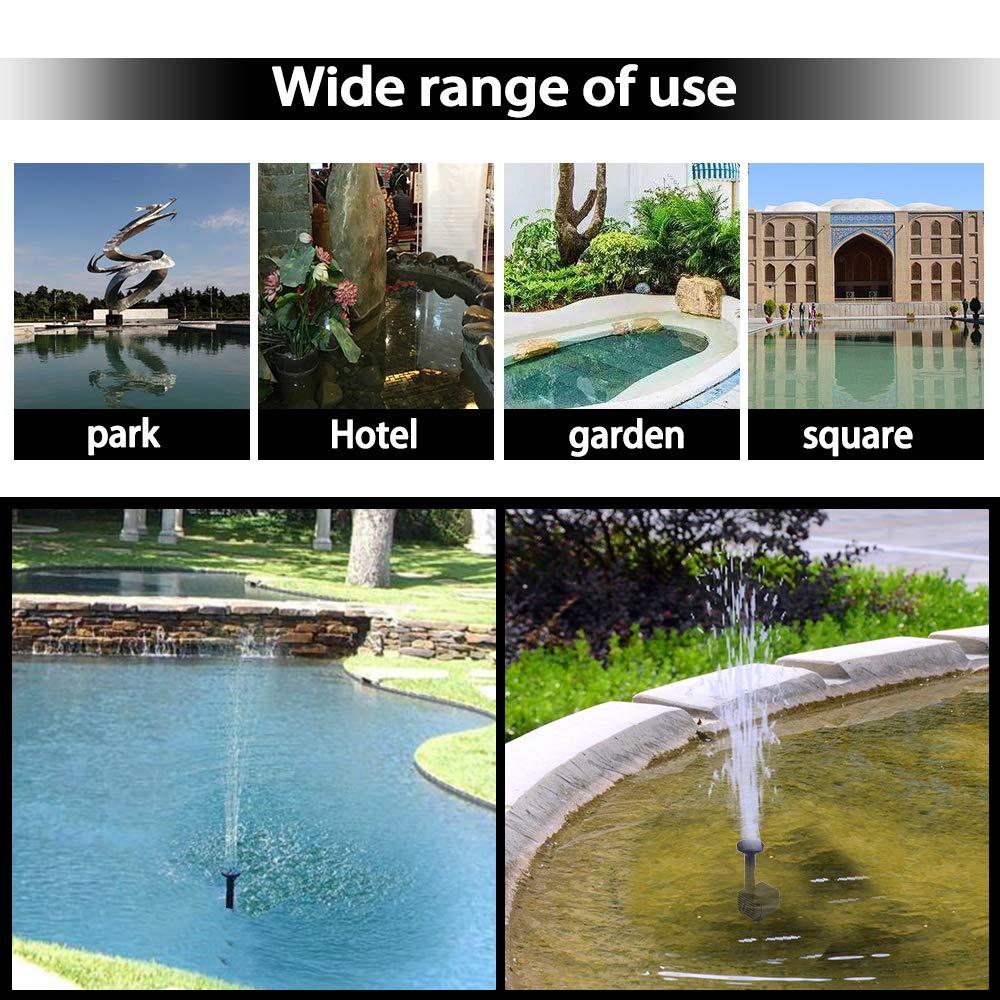vasca per uccelli pompa galleggiante a energia solare pompa per laghetti da giardino Fontana a energia solare per laghetti artificiali da esterni contenitore per pesci fontana da giardino 2019