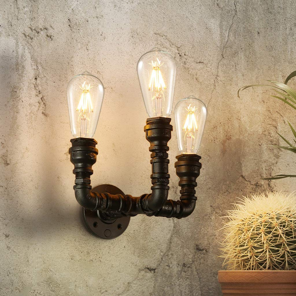 INTASBD Retro-Wand Lampe Eisen industriellen Stil dekorative Nachttischlampe Wohnzimmer Schlafzimmer Licht Wandleuchte