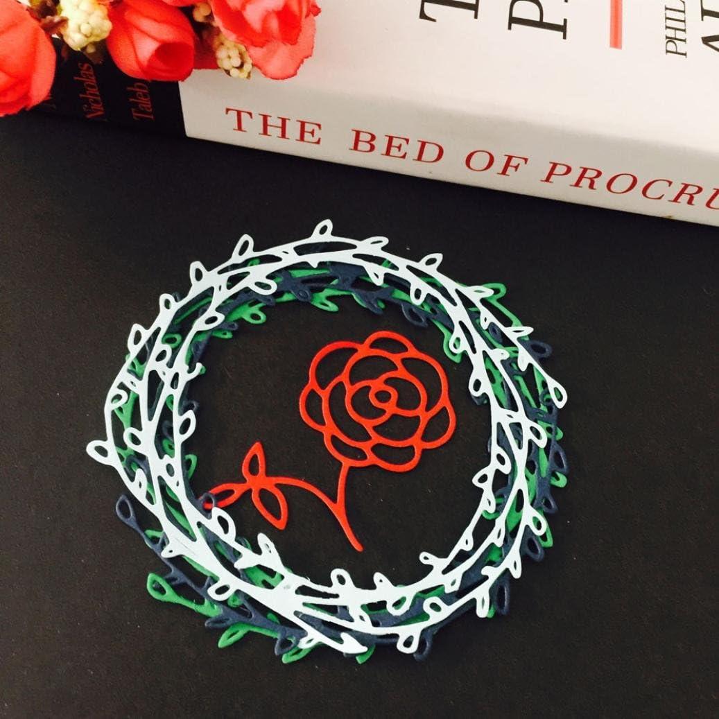 Rose Mikey Store Metal Cutting Dies Stencil DIY Rose Flower Scrapbooking Embossing Album Paper Craft