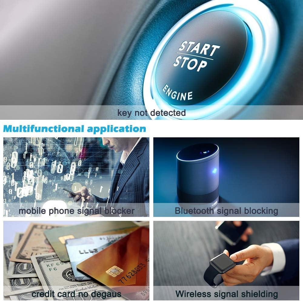 Diyife Car Key Signal Blocker Box Anti-Theft Key Fob Protector Large RFID Signal Blocking Box for Car Keys Faraday Box, Newest Version Credit Card Phones
