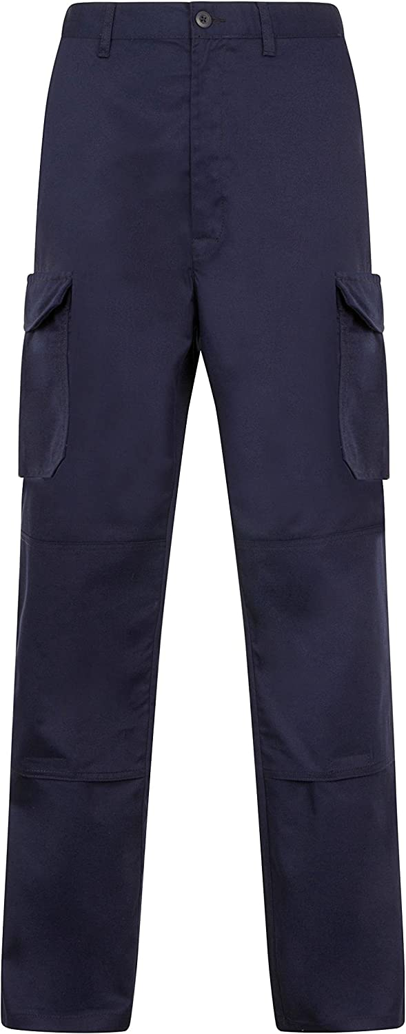 Endurance Mens Cargo Combat Work Trouser with Knee Pad Pockets and Reinforced Seams Available in Black Navy Grey//Black /& Black//Grey
