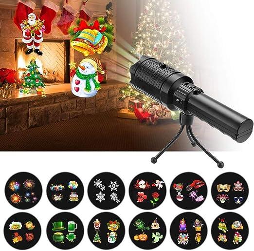 Proyector de luz LED, luz de vacaciones y linterna de mano, con ...