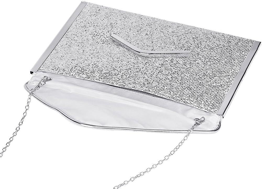 Nuanmu Women Evening Bags Glitter Bag Party Wedding envelope style Clutch Wallet Handbag Shoulder Bag