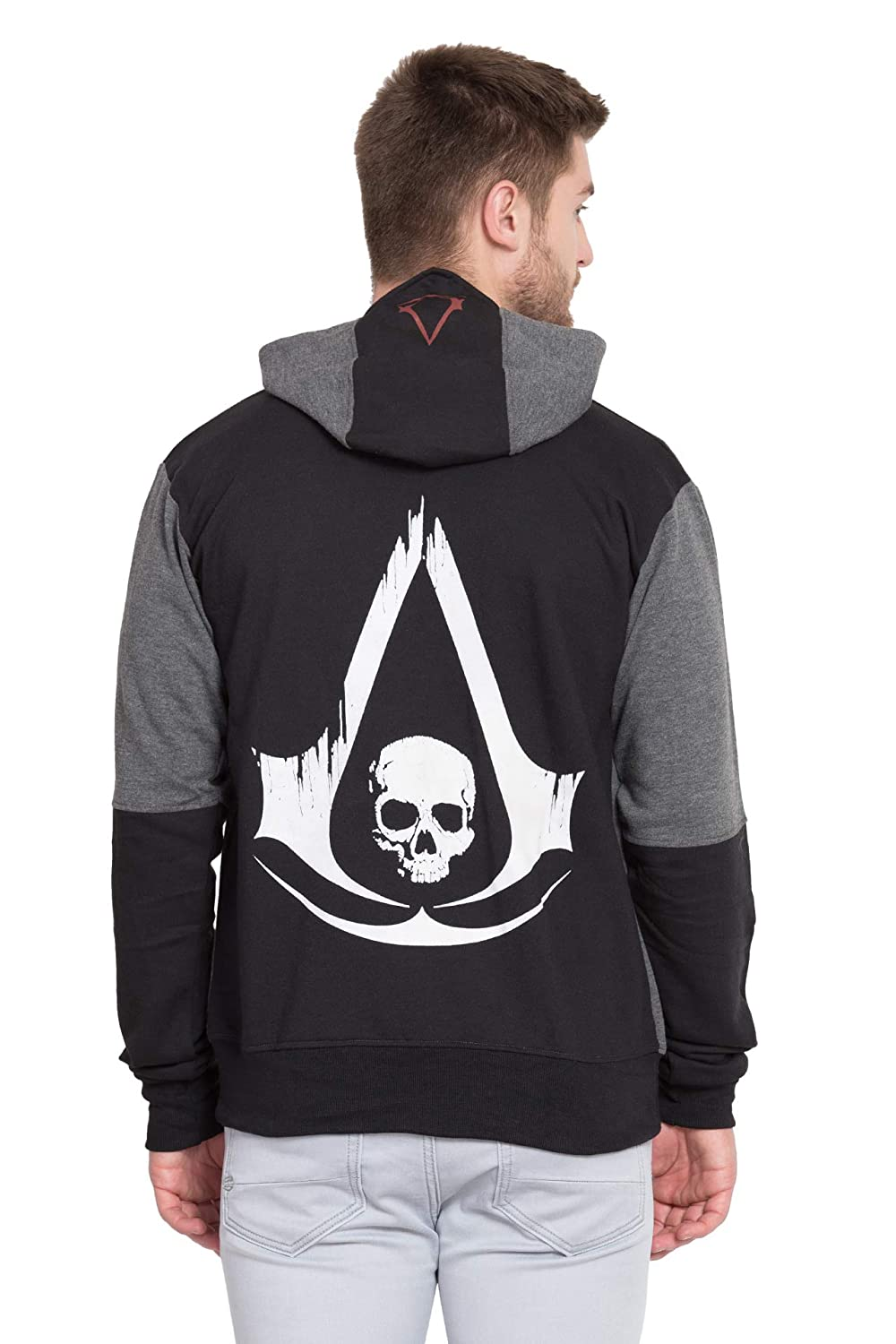 Inferno Assassin S Creed Black Flag Hoodie Amazon In Clothing