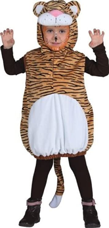 O5190-104 Kinder Tigerweste Tigerkostüm Raubkatzenkostüm Gr.104