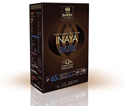 Cobertura de chocolate negro Inaya para cobertura (1 kg 65% Cacao Barry)