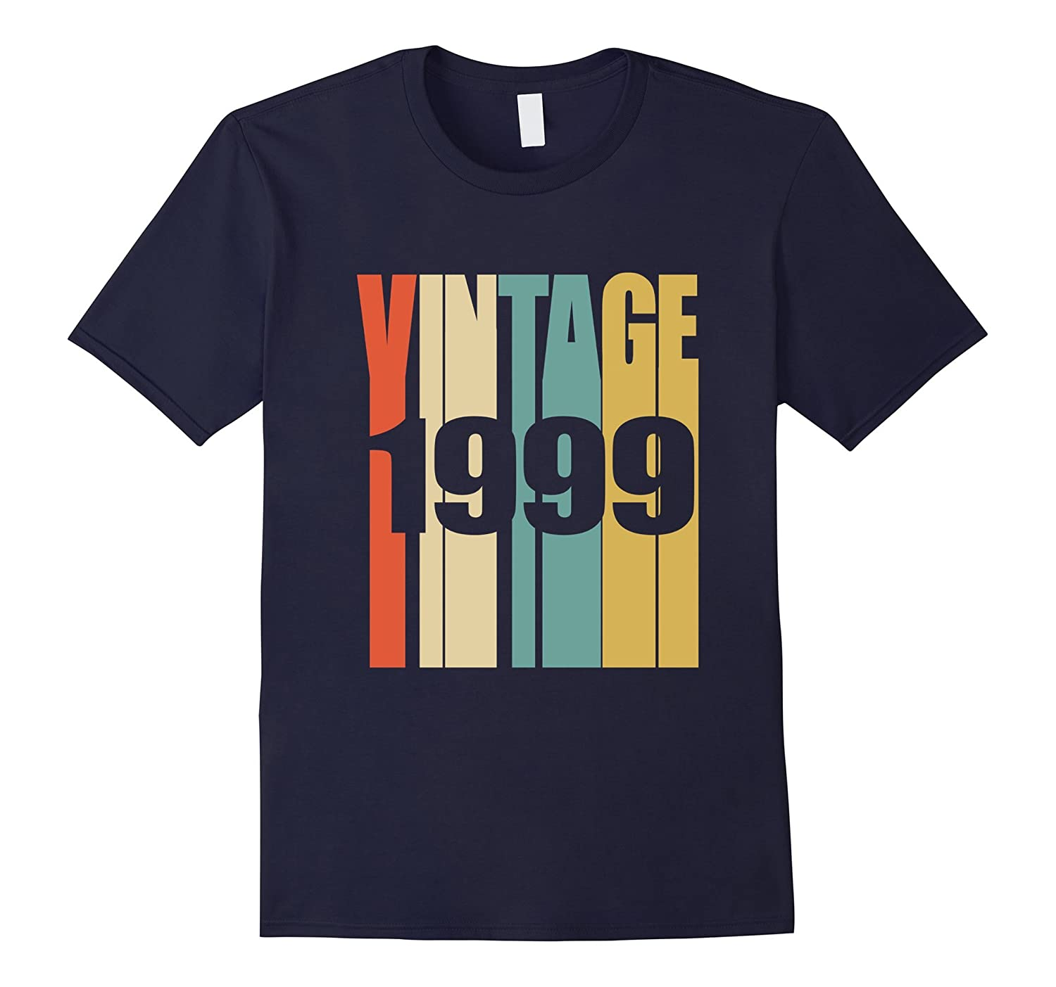 Retro Vintage 1999 T-Shirt 18 yrs old Bday 18th Birthday Tee-T-Shirt