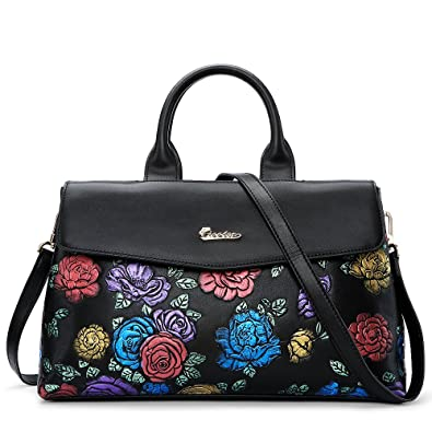 Amazon.com  ZOOLER GLOBAL Genuine Leather Handbags for Women Top Handle Bags  Handpainted Tote Bag  Shoes 7f59033291c63