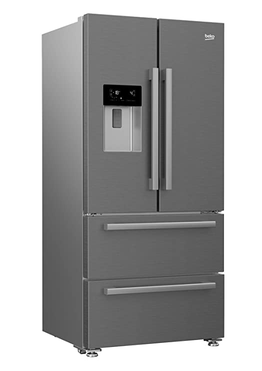 Beko GNE60530DX nevera puerta lado a lado Independiente Plata, Acero inoxidable 530 L A++ - Frigorífico side-by-side (Independiente, Plata, Acero inoxidable ...