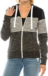 product image for Womens Basic Casual Soft Fleece Full Zip Hooded Sweatshirt Jacket