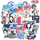 The TV Show Greys Anatomy Funny Pack of 50 Stickers,The Laptop Stickers for Water Bottles.Waterproof Laptops Sticker…