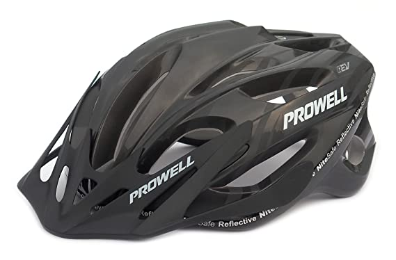 Amazon.com : Prowell F59R Vipor Cycle Helmet Medium - (55Cm-61Cm) Gloss Black : Sports & Outdoors