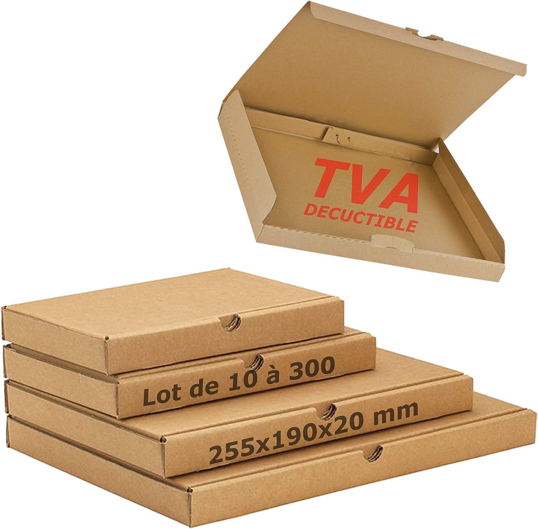 JECO lot de 50 Boite postale extra plate 255x190x20 mm boite carton exp/édition format lettre /épaisseur 2cm 20mm