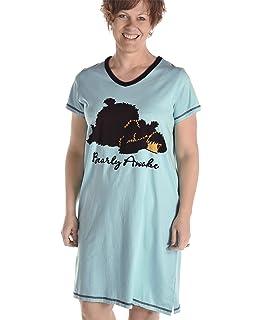 a0a0d22fc3 Amazon.com  Women s Animal Pajama Nightshirt by LazyOne