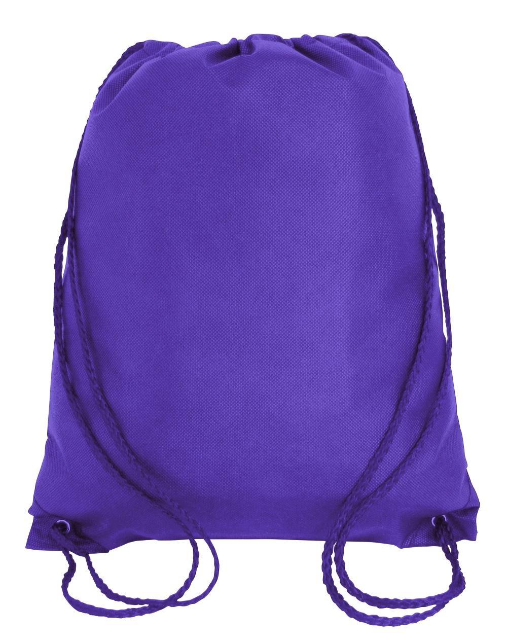 Bulk Drawstring Backpack Bags Sack Pack Cinch Tote Kids Sport Storage Bag for Gym Traveling (100, PURPLE)