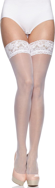 Merry Style Damen halterlose Str/ümpfe plus size MS 164 15 DEN