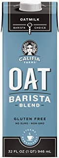 product image for Califia Farms - Oat Milk, Unsweetened Barista Blend, 32 Oz (Pack of 6) | Shelf Stable | Non Dairy Milk | Creamer | Vegan | Plant Based | Gluten-Free | Non-GMO