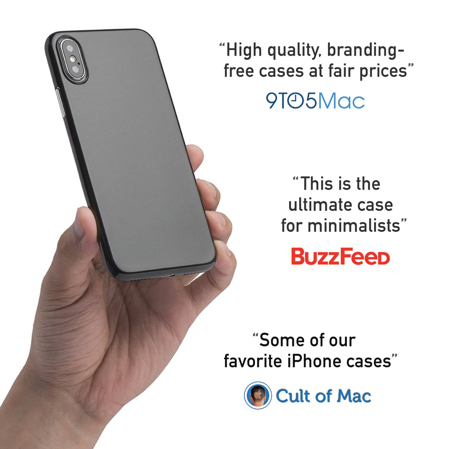 iPhone X Case, Thinnest Cover Premium Ultra Thin Light Slim Minimal  Anti-Scratch Protective - for Apple iPhone X | totallee (Jet Black)