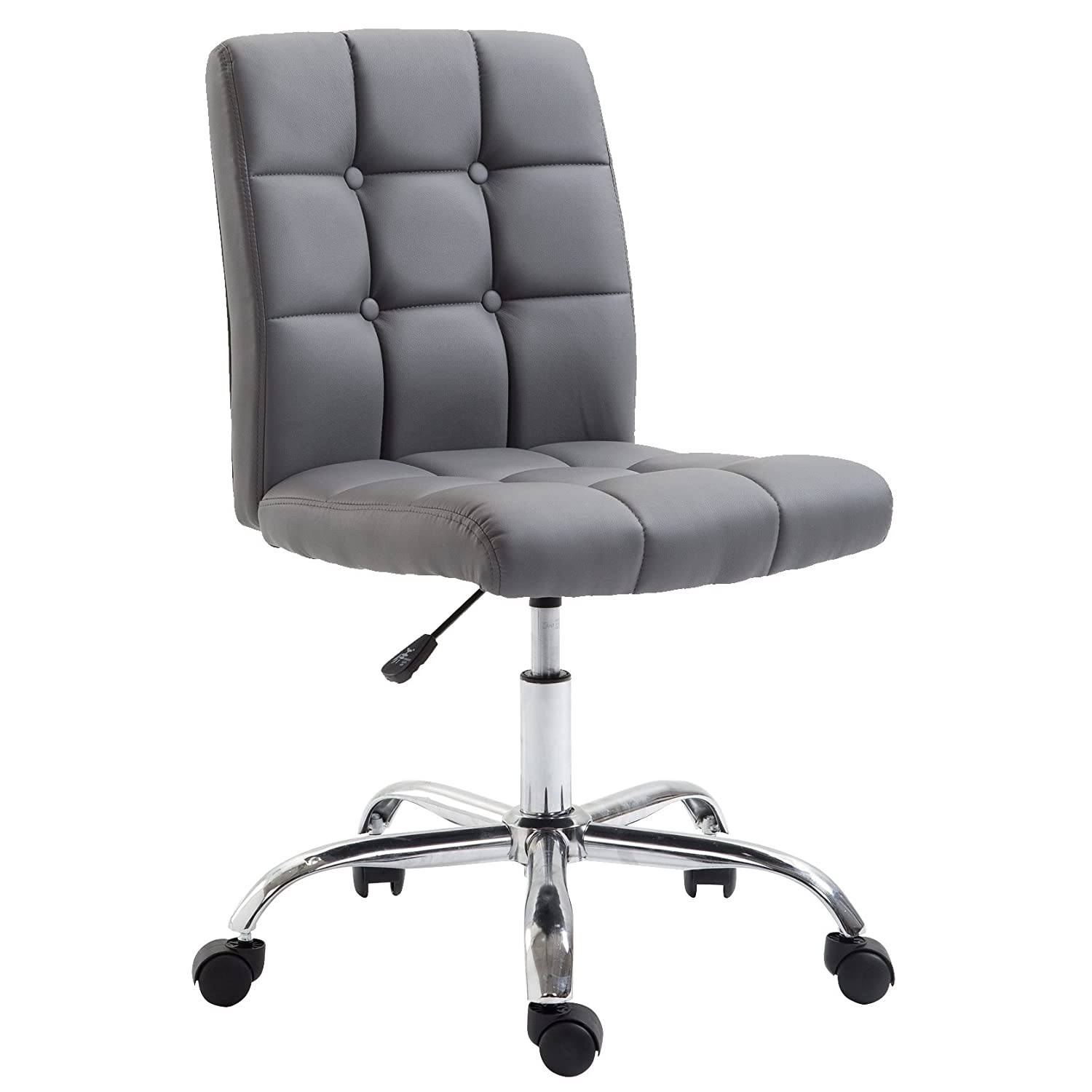 POLY & BARKAria Task Chair in Vegan Leather, Grey
