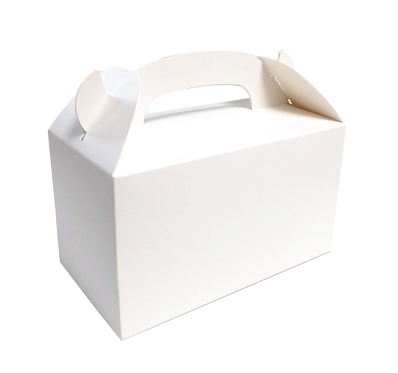 "MONKA PREMIUM GRADE Treat Boxes White 6.25""x3.5""x3.5"" (Set of 24pcs) Kids Favor Box, Party Box, Birthday Goodies Box"