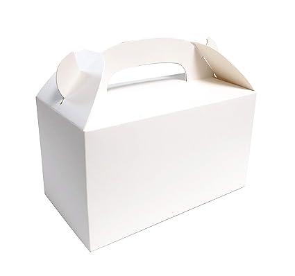 Amazon.com: Fiesta Ideas blanco caja de Treat caja 24pcs ...