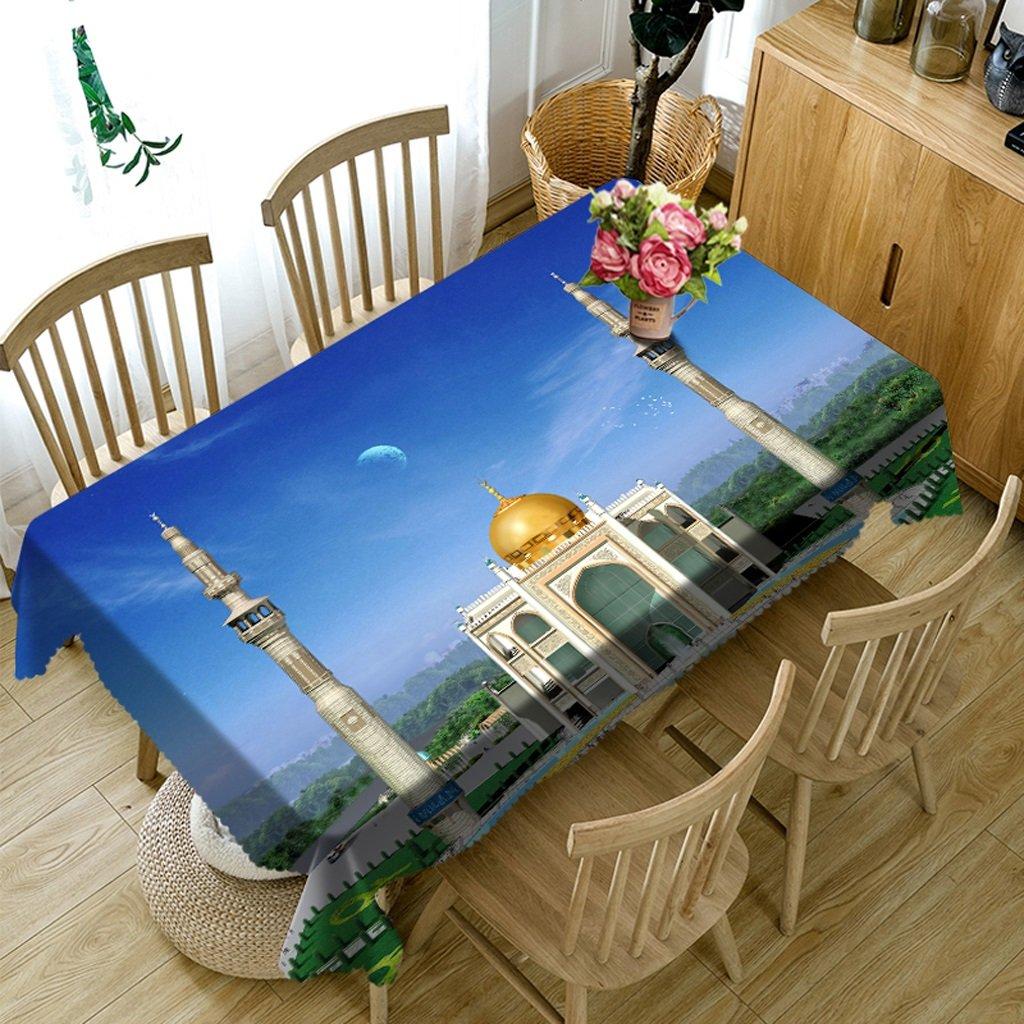 Barato Ropa de Cocina Manteles rectangulares - 3D Landscape Series Tablecloth MT11 - Respetuoso con el Medio Ambiente y sin Sabor - Impreso digitalmente a Prueba de Agua (Tamaño : Square -216cmx216cm)