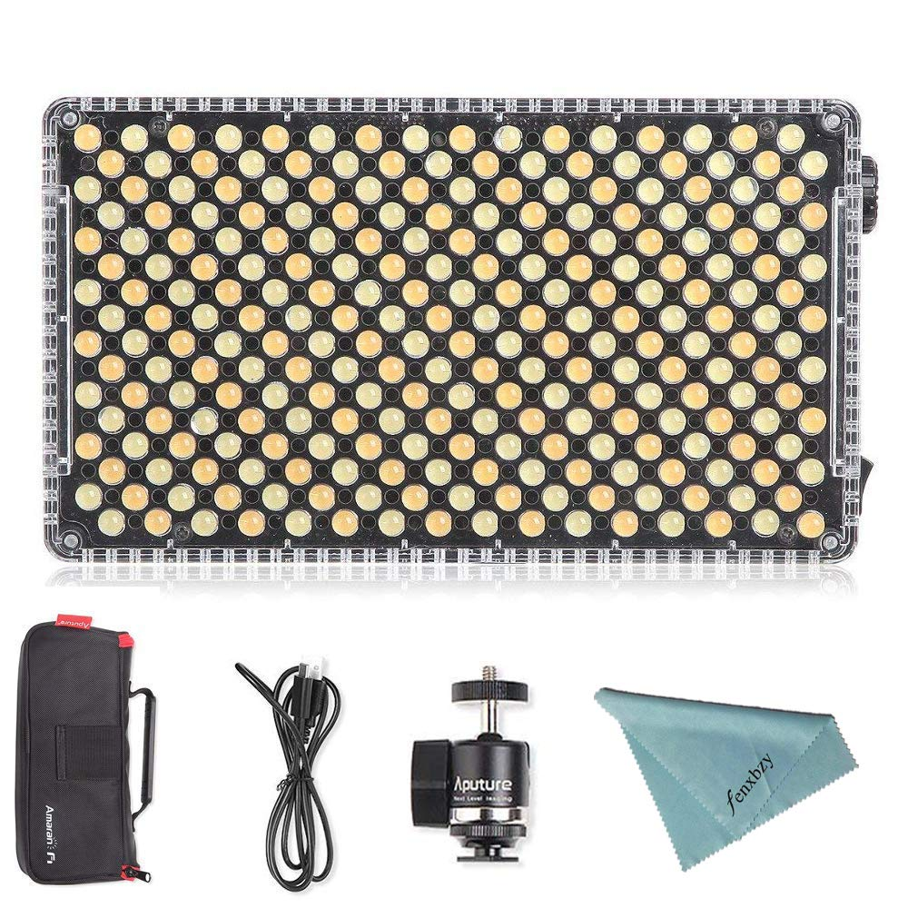 Aputure Amaran AL-F7 On Camera LED Video Light Color Temperature 3200-9500K CRI/TLCI 95+ Led Panel Versatile On-Camera LED Light (Updated version of Aputure Al-H198) by Aputure