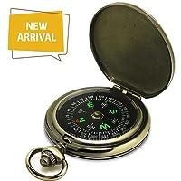 Bussola Premium Pocket Watch portatile Flip-open Bussola Campeggio Escursionismo Strumenti di Navigazione Esterna Bussola