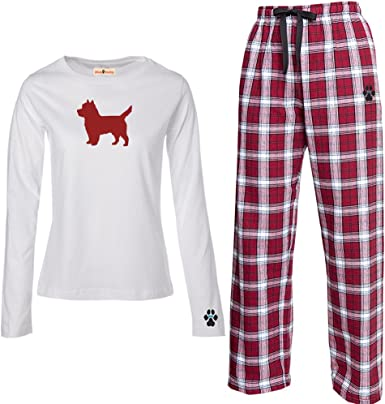 YourBreed Clothing Company Cairn Terrier Mens Flannel Pajamas.