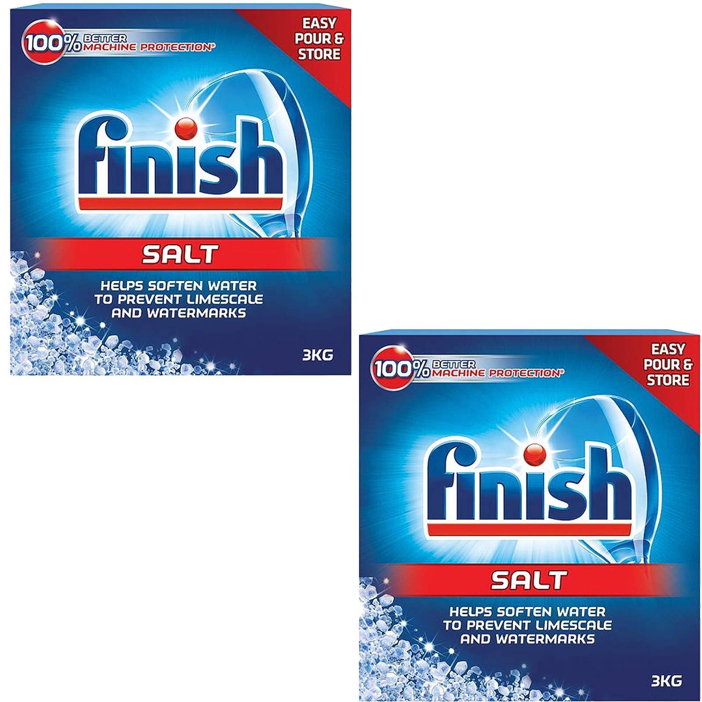 Finish - Limpiador de sal para restauración de lavavajillas (2 x 3 ...