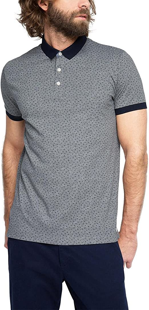 Esprit Jersey mit Print - Slim Fit - Polo Hombre