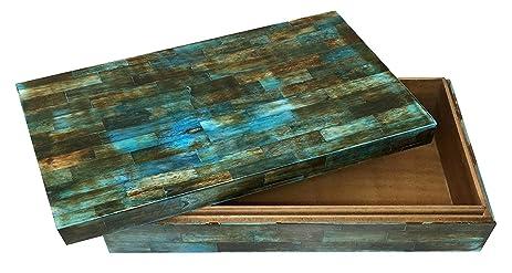 Amazon Com Verdigris Covered Keepsake Decorative Storage Box Bone