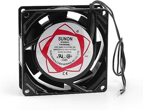 Areyourshop 4Pcs AC 220V~240V Metal Cooling Fan 8025S 80x80x25mm 50//60Hz 0.1A CPU Computer Fan
