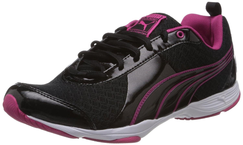 Puma Flextrainer NM Wn's - Zapatillas De Deporte Para Exterior de material sintético mujer 38.5 EU Negro - Schwarz (Black-beetroot Purple 01)