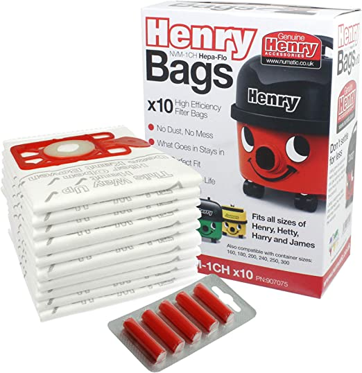 Henry Bolsas de Microfibra para el Polvo Multicapa, Verde, 20 Bags + 10 Freshener Sticks: Amazon.es: Hogar