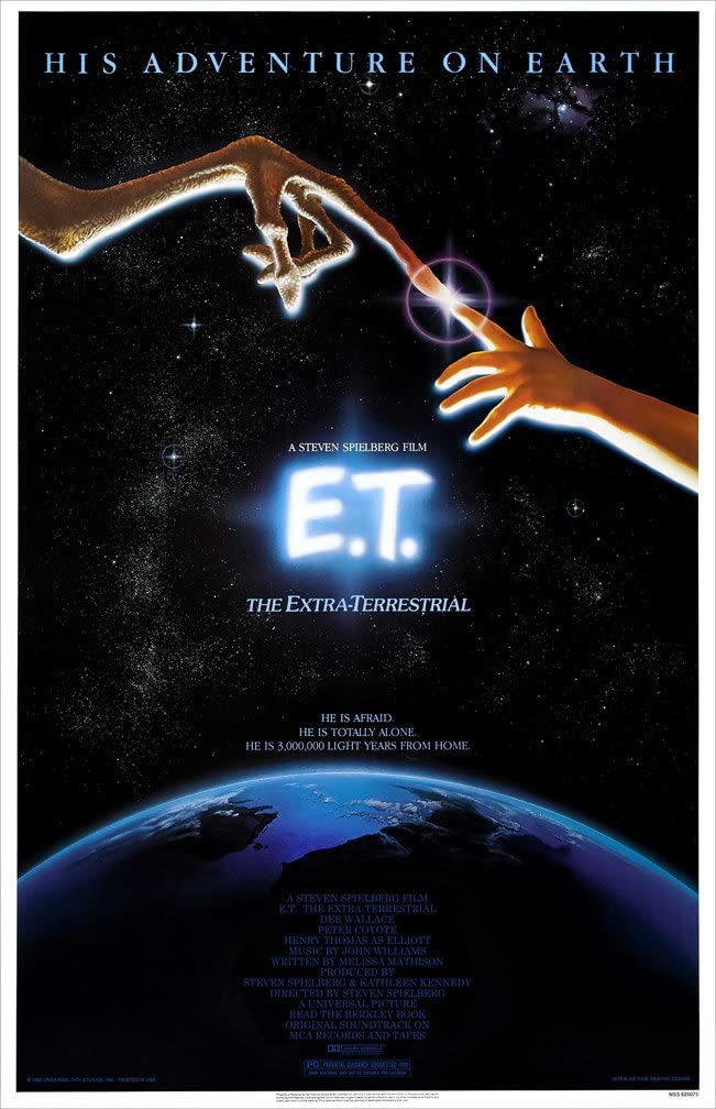 Amazon Com E T The Extra Terrestrial 1982 24 X 36 Movie Poster Posters Prints