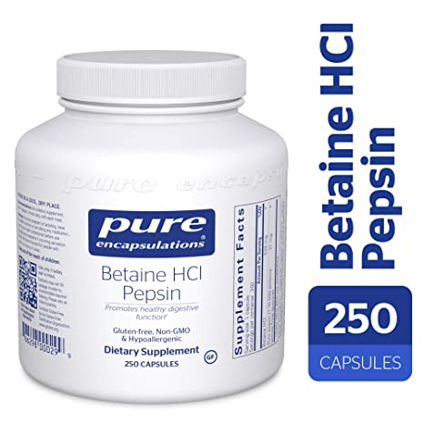 Buy Pure Encapsulations - Betaine HCL/Pepsin