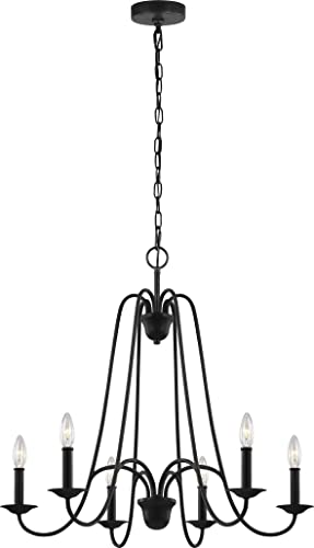 Sea Gull Lighting F3205 6AF Boughton Six Light Chandelier, Antique Forged Iron