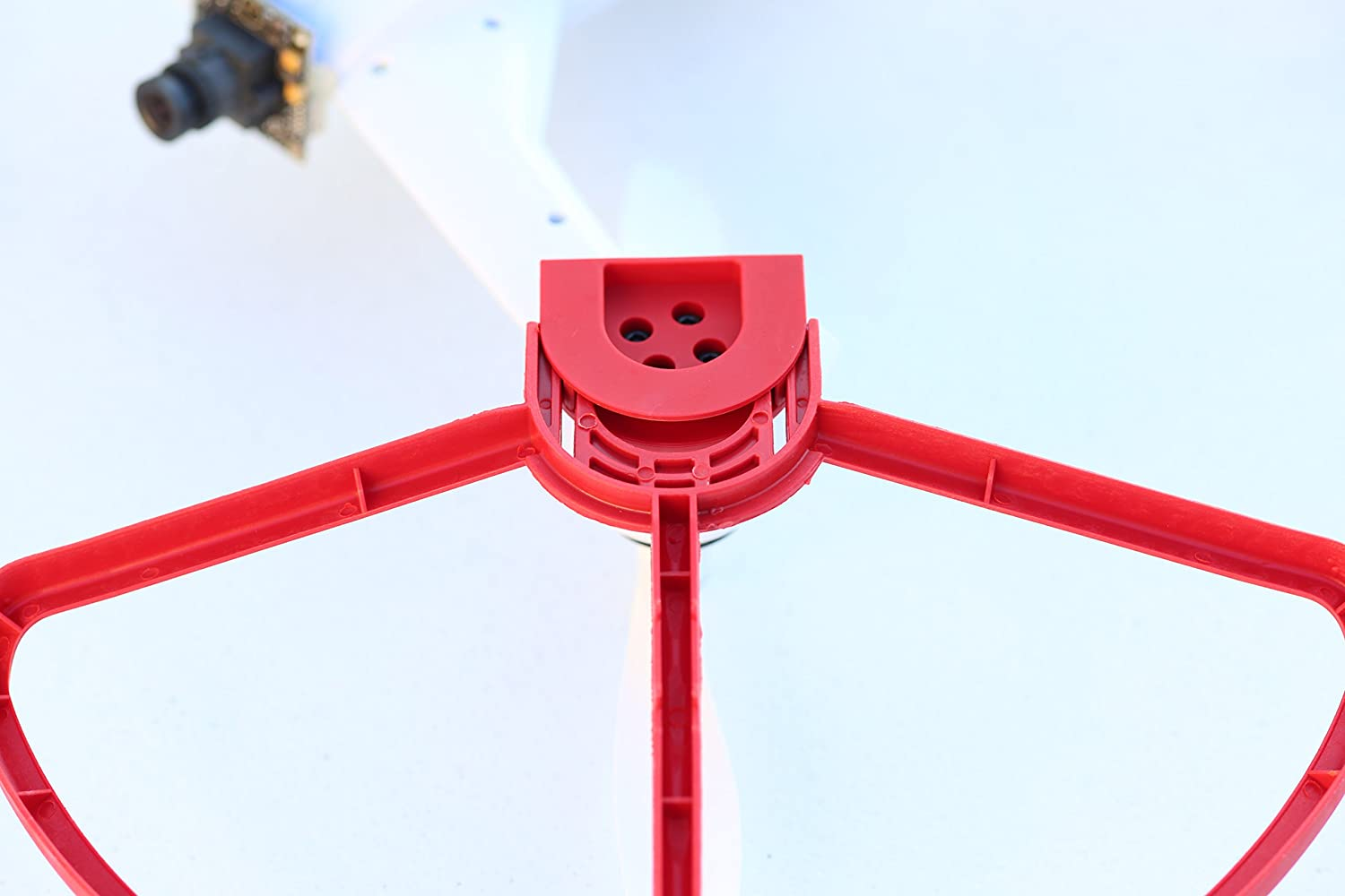 SummitLink Blade 350 QX 1 QX 2 QX 3 Snap on//off Prop Guards 2 Red 2 White Tool Free Quick Mount Quick Release Disconnect