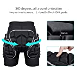 KUYOU Protection Hip,3D Padded Shorts Breathable