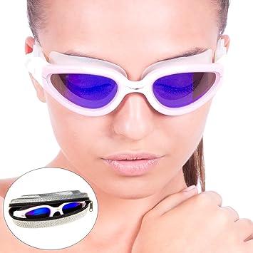 56602285e28 Image Unavailable. AqtivAqua  Poseidon POLARIZED Premium Swimming Goggles  ...