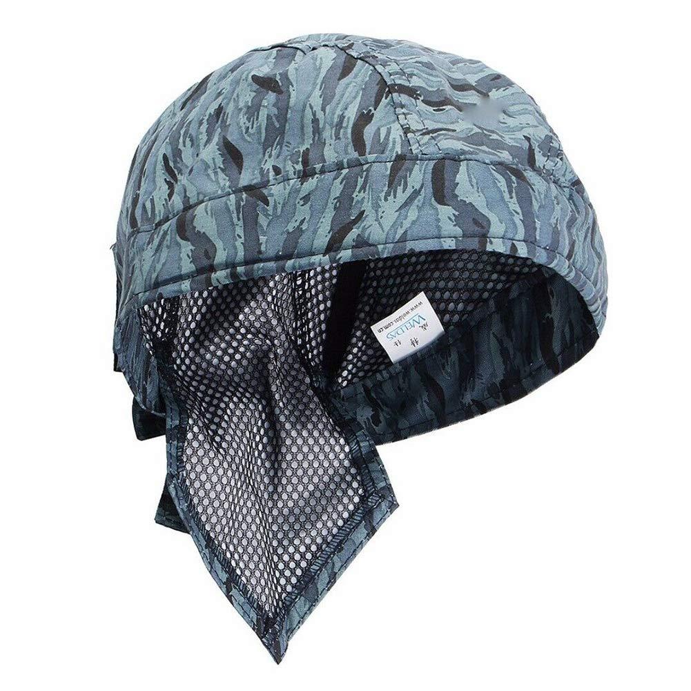 LNIMIKIY Tapa Soldadura Aislamiento t/érmico Bufanda Transpirable Moda Protecci/ón para la Cabeza Lavable Retardante Llama Azul El/ástico C/ómodo Casco Seguro Sombrero
