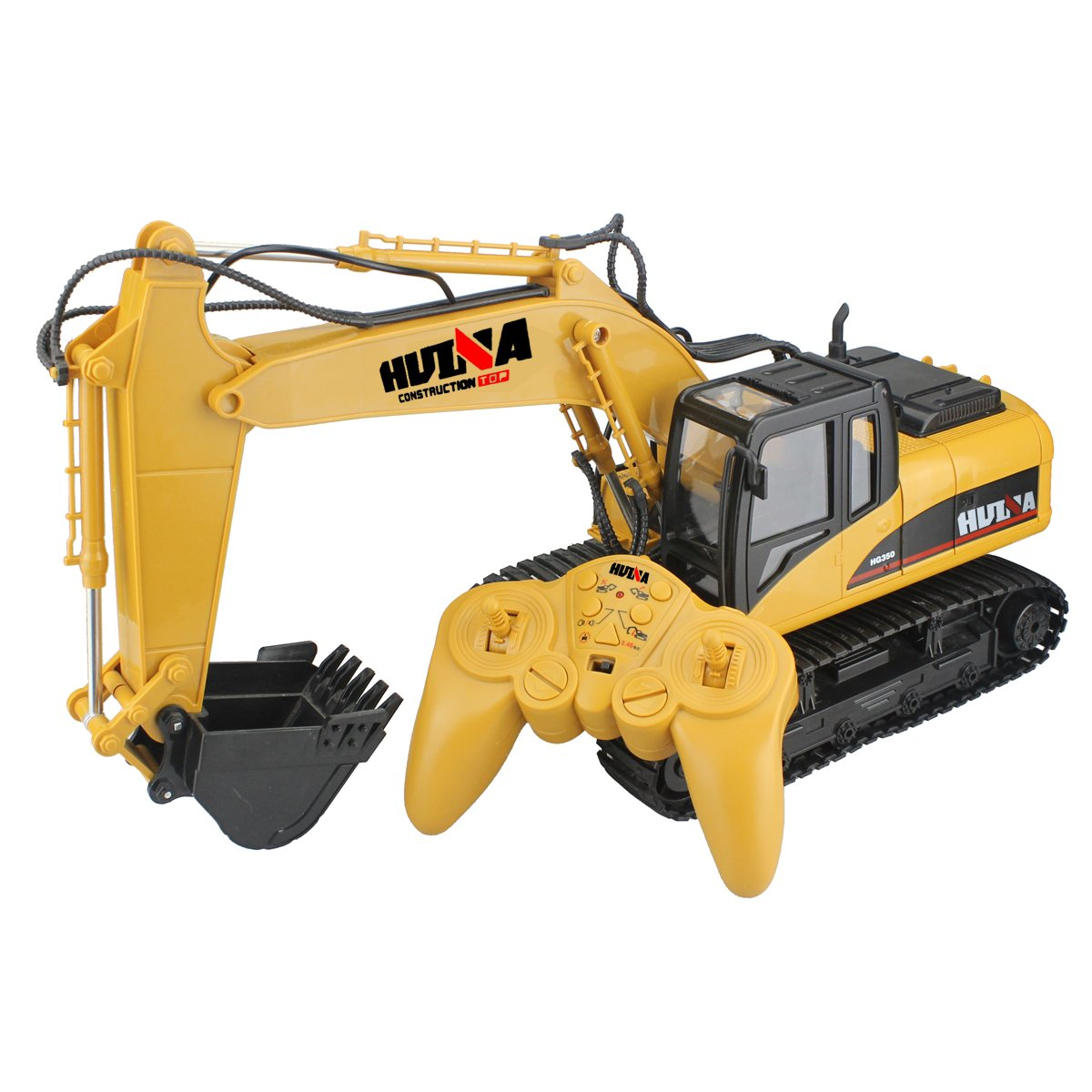 RC Truck Remote Control Excavator Crawler Tractor 15 Channel 2.4G Construction Vehicle Digger Electronics Hobby Toys with Simulation Sound and Flashing Lights by fisca (Image #9)