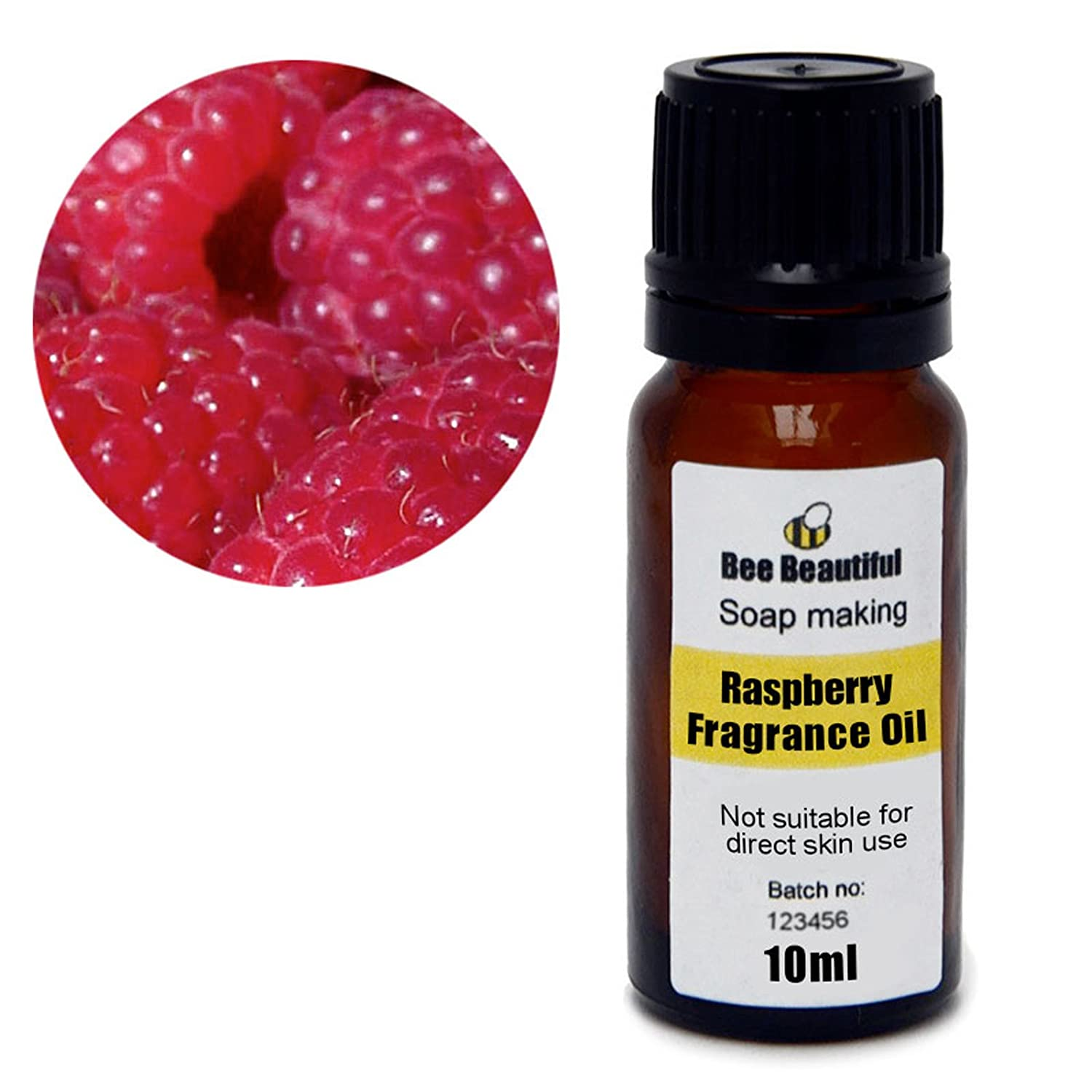 Bee Beautiful 10ml Raspberry Fragrance Oil suitable for soap making and bath bomb making