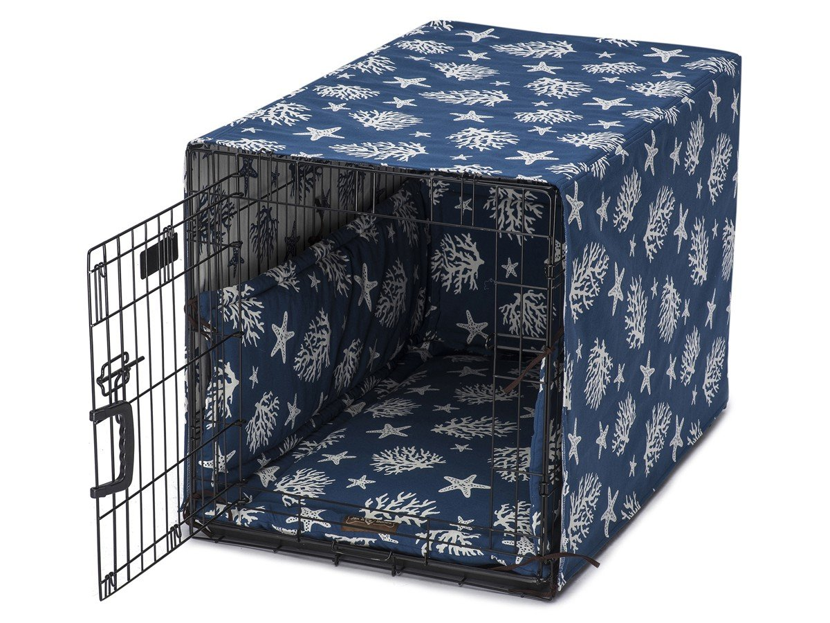 Jax & Bones Cotton Blend Crate Cover Ups Bed Cove Navy-X-Large