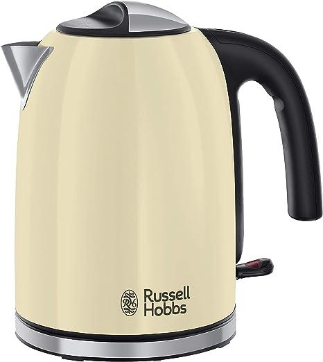 Oferta amazon: Russell Hobbs Colours Plus - Hervidor de Agua Eléctrico (2400 W, 1,7 litros, Acero Inoxidable, Crema) - ref. 20415-70