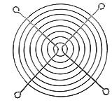 SODIAL (R) Protezione per le dita PC DC Ventilatore Griglia Protettore 120 millimetri 12 centimetri in metallo tono argento